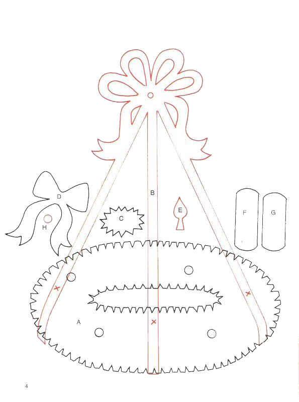 Поделки на рождество с шаблонами